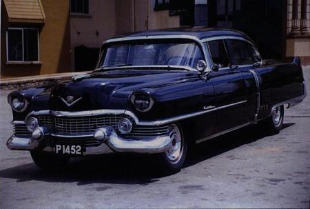 France kept the enclaves of Pondichery and Karikal in Madras State, South India, tagging the vehicles there in the P and K series.     This Cadillac P 1452  has survived the obligatory change to white Indian plates, when this photo was taken.   Thanks to Cedric Sabine.