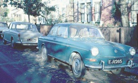 The remarkable sight on two Jesselston-registered VW 1500s in London in 1969.   Note their numbers.