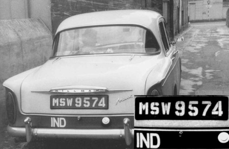 Madras-registered Hillman in 1964 Plymouth.