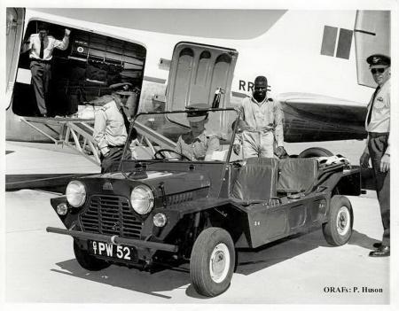 Morris Mini-Moke in police service, Southern Rhodesia 1960s.