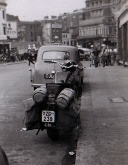 ZG 239 motorcycle from Zug in Oxford 1940s, see by John Pemberton