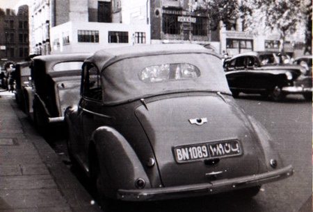 A Morris Minor Tourer from Benghazi circa 1951. BN 1089. (JP)