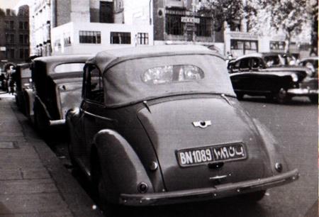 A Morris Minor Tourer from Benghazi circa 1951. BN 1089. (JP)