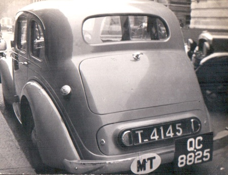 Daimler(?) T-4145 from Tangiers, in Oxford durin 1947.