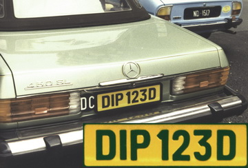 DIP 123 D is of the diplomatic style of the 1970s.