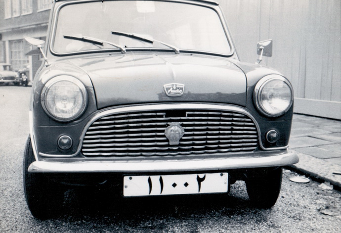 Bahraini Austin Seven 'Mini' 11002 in Notting Hill, London in 1962. Brumby archive