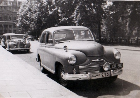 Standard Vanguard Phase 1 built 1947-53.  This one has served in Bahrain and returned to Britain to use LXV 90 plates.