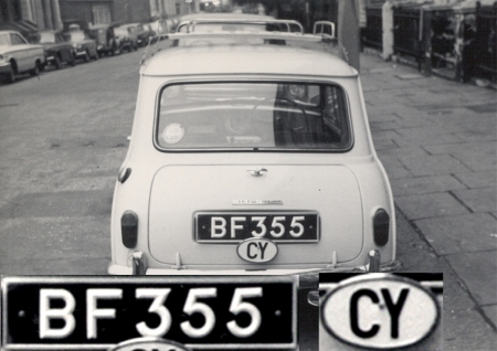 The Enosis (Union with Greece) uprising in Cyprus in the early 1950s saw thousands of troops sent there over the decade, most of whom seemed to come back with with a smart car,    It was a common sight o see Cyprioys all over Britain.    Here is a Morris Mini-Minor, somewhere in London, circa 1963,    Brumby archive
