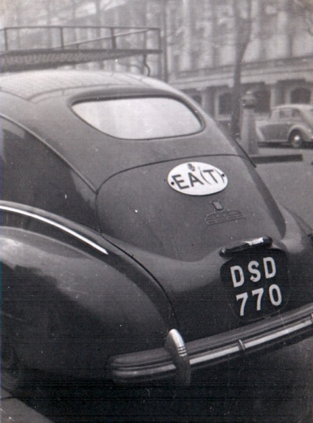 Tanganyika - John Pemberton's shot of a Peugeot 203 from Dar-es-Salaam circa 1954 in London,
