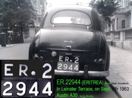 ER.22944 was seen in 1963 on an Austin A30 c.1954.   Never another seen, anywhere.     Brumby archive.