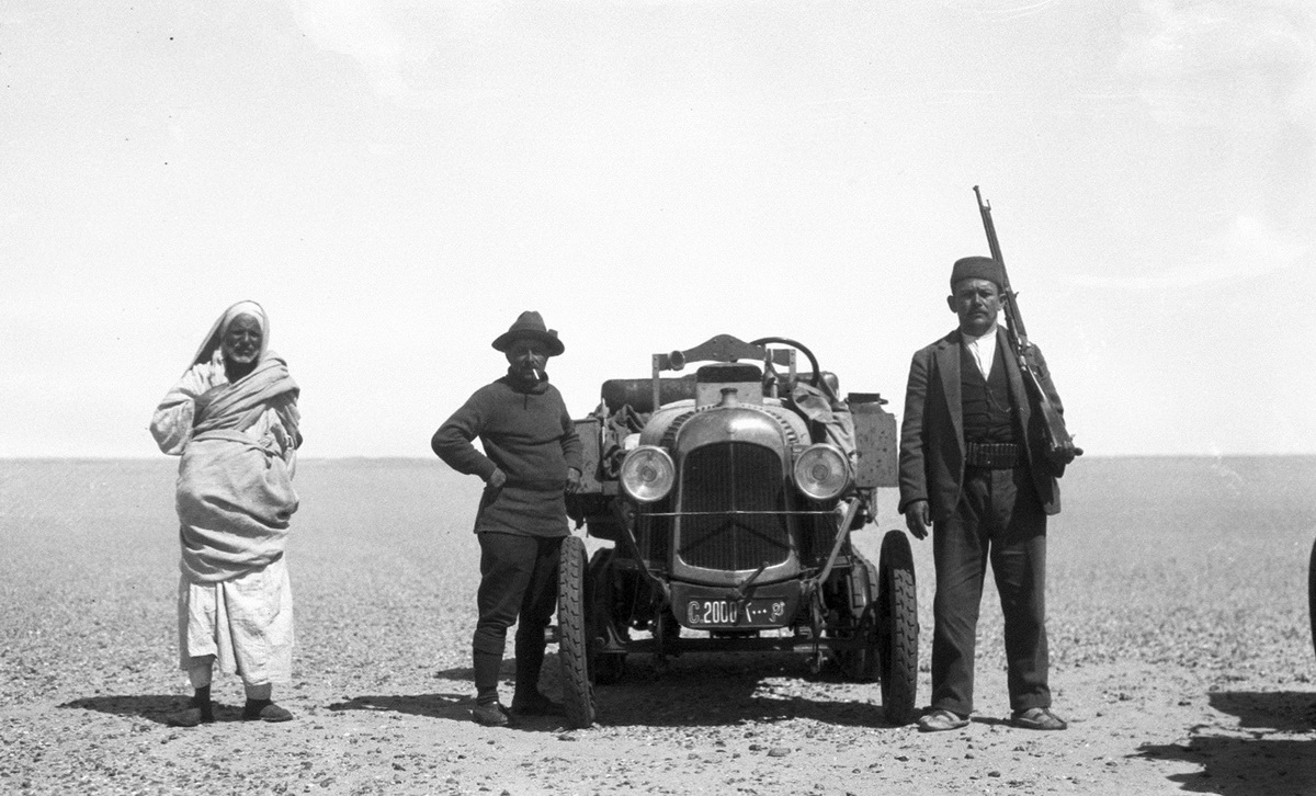 Early cross-desert explorers used C 2000 for most of the way.   This is taken before they left.   (anon)