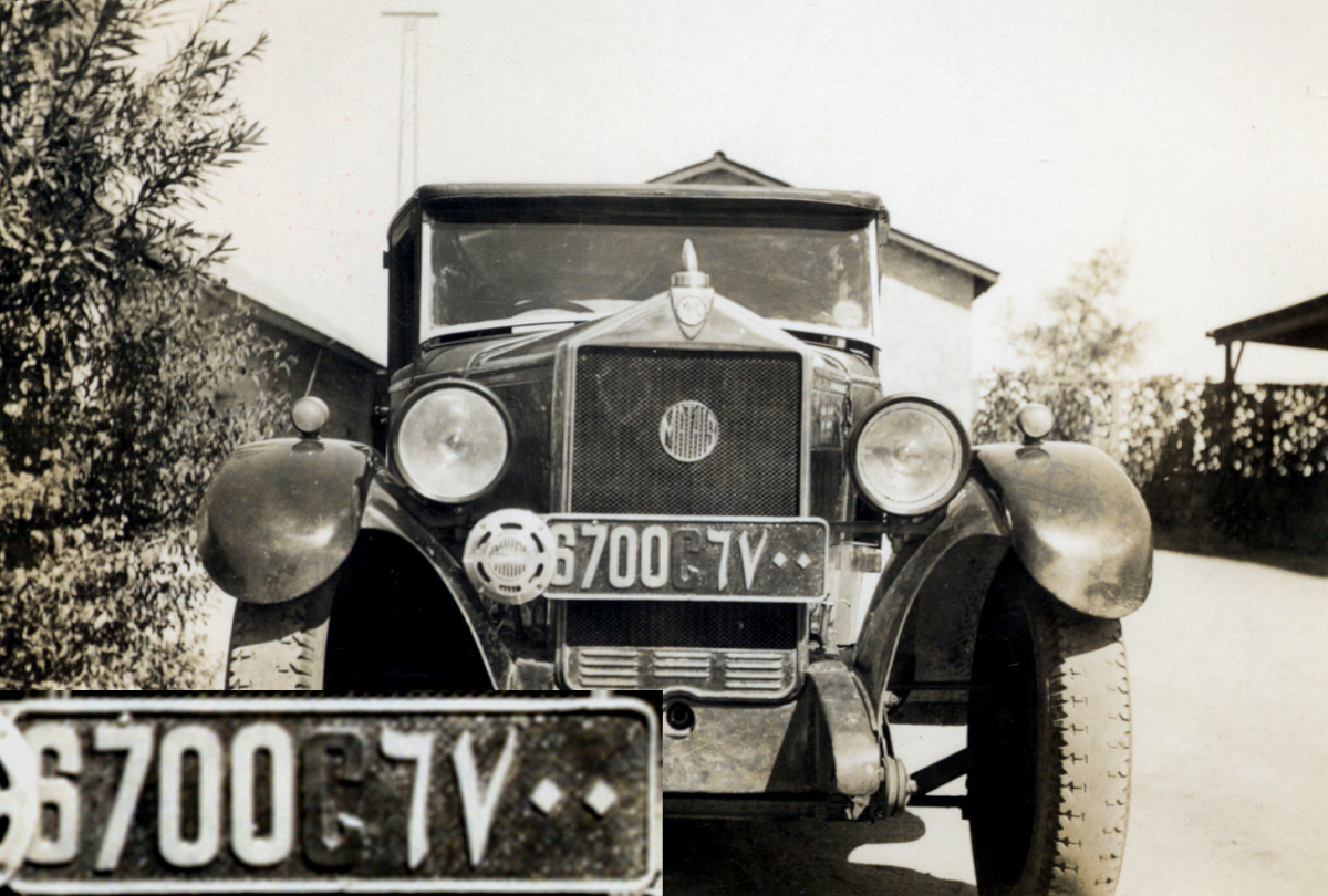 The French Mathis car in Cairo 1934.   Brumby archive