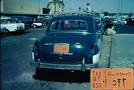1966 shot in Cairo of an elderly taxi DT 533.   Brumby archive