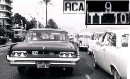 On its way to the Central African Republic, 9 TT 10 first enjoys a drive along the Promenade des Anglais in 1964 Nice.          Brumby archive