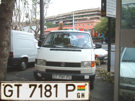 Finally, a current Ghanaian vehicle, seen in Italy, in 2003.   Brumby archive