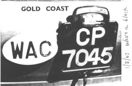 CP 7045 was from Central Region (Cape Coast).  (Reg Wilson archive)