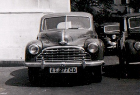 CD 277 on leave from Athens. in Britain, circa 1949-50.
