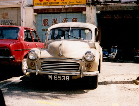 M - Malacca state, formerly one of the Straits Settlements (using the same plates), seen in Penang in 2009