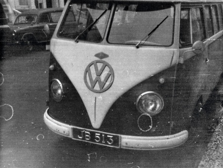 is VW Kombi came ro live in Earls Court during the 1960s,   It was registered JB 513 in Johore state, Malaya and showed a PTM oval to rear.    Brumby archive