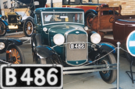 This Beira-registered Ford Model A (c. 1932) stands in Johannesburg's Museum of Transport and gives us our only photo of Beira plates on the car.