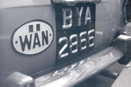 BYA 2866 was seen in London by EU38 in the 1960s, coded for Jos, capital of Plateau state.   On a VW Karmann-Ghia.   Brumby archive