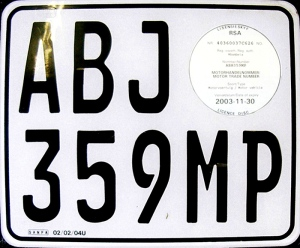 Dealer (trade) plate from Mpumalanga Province, ZA.