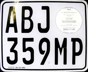 Dealer (trade) plate from Mpumalanga Province, ZA.