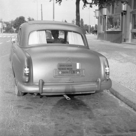 Car 19 from the French Legation in East Berlin, captured by former president Larsson in 1961.   Larsson archive