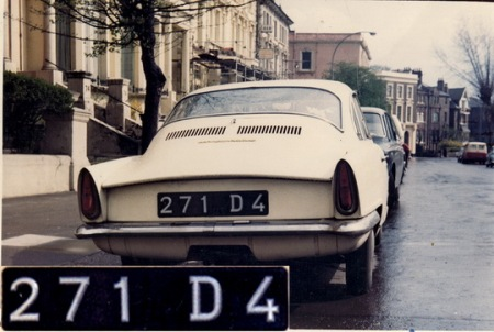 The only Djibouti ever seen by the writer was this little NSU Prinz coupe, in London in the early 1960s, the '4' in its registration probably indicating 1964 validity.