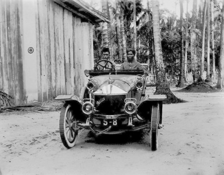 S-8, among the very first automobiles to reach the Straits Settlement of Singapore, in 1911.    anon.