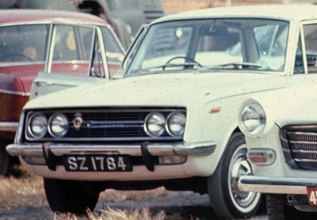 Here is SZ (Singapore Rental-Hire) carried on a new Toyota in 1968, seen at Singapore docks.     Brumby archive 1968