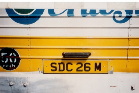 SDC 26 M is one of the island buses, registered on the 'mainland'     Brumby archive