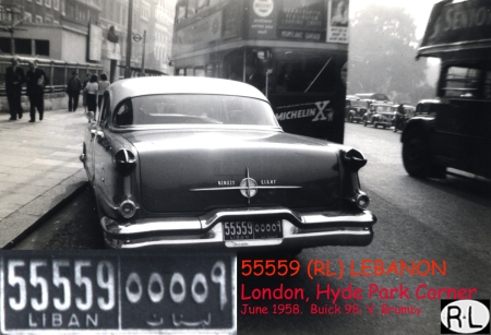 Buick Eight in London during 1958, also noted by member Pemberton.   Brumby archive