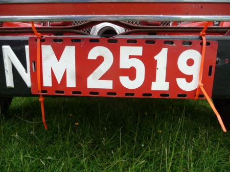 The unusual sighting of this old Swedish tourist import plate was at a Morris Minor rally in Oxfordshire in June 2013!      (Brumby archive)