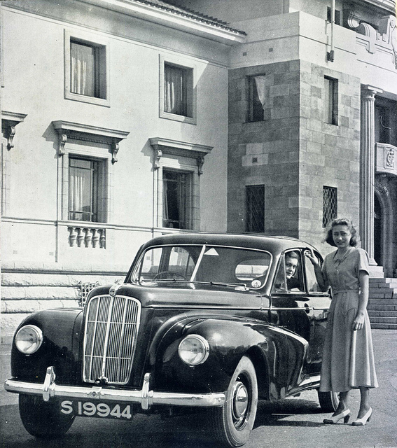 A Morris Six in Salisbury about 1953.