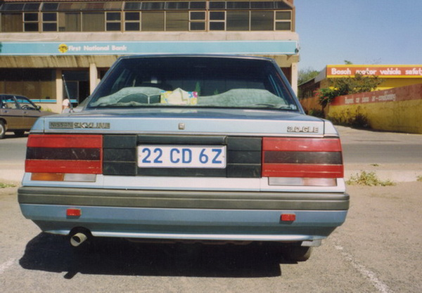 At independence in 1964, diplomatic recognition became the responsibility of the new government. By 1992 when this was taken in South Africa, Botswana (embassy code 22) seemed to have six cars registered at the Zambian capital. Brumby archive.