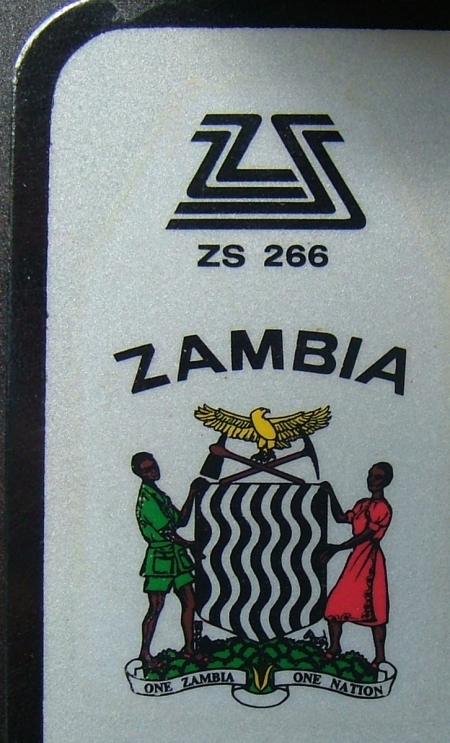 Detail of the current Zambia symbol