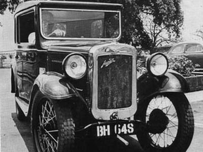 An early registrant in Broken Hill district was this 1930 Austin Seven BH 648.