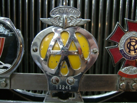 Here is a typical overseas British Automobile Association radiator badge of the type created for all or most of the Commonwealth countries.