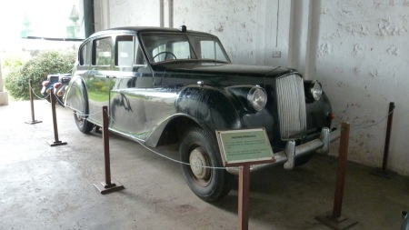 A preceding Resident (Governor) of the 1950s left this Austin ceremonial limo for his successors.    Brumby archive