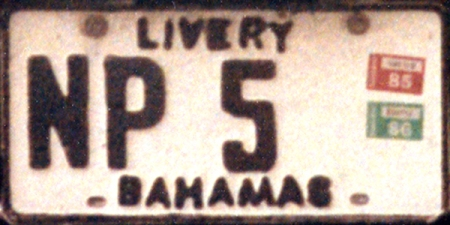 The  Livery plates from the 1970s to 1995, were also black-on-white, with variation.         Brumby archive 1972