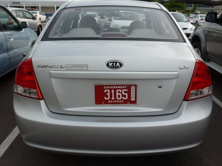 Normal Bahama Government plates have shown 'Government over the registration and Bahamas below.