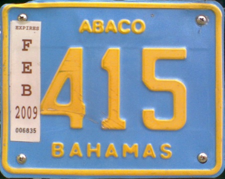 Abaco 415  --  Abaco private motorcycle
