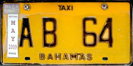 AB 64 -- Abaco Island taxi  Brumby archive 2008