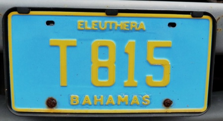 T 815  --  Very few Out Island plates are to be seen   on New Providence.   This Eleutheran Cargo (Truck) was one in May 2015