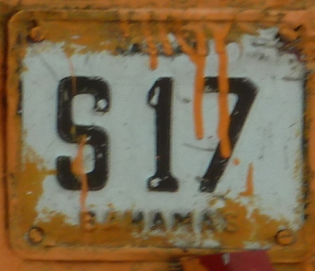 a much overpainted carriage plate S 17.