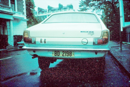 This Hillman Avenger was phot'd in London in 1976, using the new yellow plates, otherwise unchanged.     Brumby archive