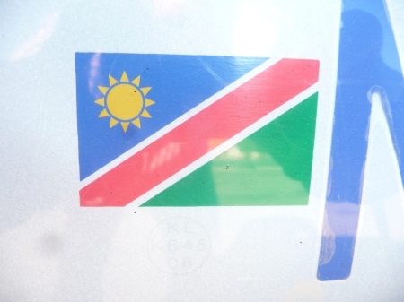 Namibian flag on plate