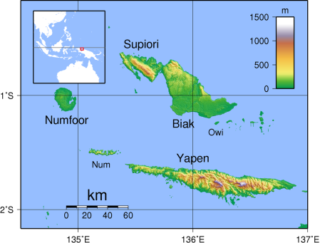 ((NGN BIAK-MAP Schouten_Islands_(IN)_Topography